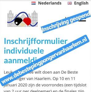 De beste Pingponger van Haarlem @ Haarlem, drie locaties | Haarlem | Noord-Holland | Nederland